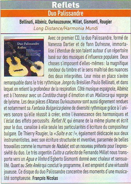 Critique Reflets - Guitare Classique